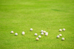 Golf balls for practice Royalty Free Stock Photos