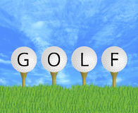 Golf Balls Sign Royalty Free Stock Images