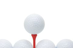 Golf balls with tee Royalty Free Stock Photography