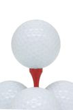 Golf balls and tee Stock Photo