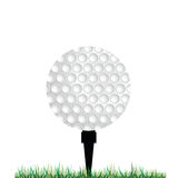 Golf balls vector illustration. In a grey Royalty Free Stock Photos