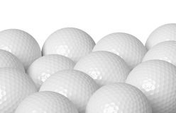 Golf balls  on white Stock Photo