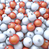 Golf balls, xmas balls, baubles. Pool of golf balls, xmas balls, baubles, 3d rendering stock illustration