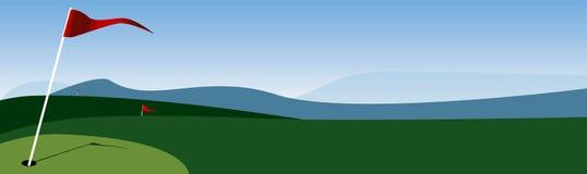 golf bandery ilustracja wektor