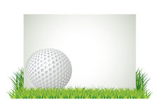 Golf banner Royalty Free Stock Photography