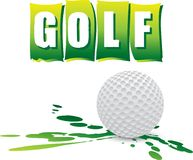 Golf banner. And golf ball Stock Photography