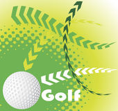 Golf banner Royalty Free Stock Photos