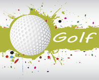 Golf banner.Abstract green splash Royalty Free Stock Photography