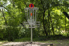 Golf basket number 9 on a course Stock Photos