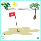 Golf on the beach Royalty Free Stock Photos