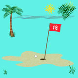 Golf on the beach Royalty Free Stock Images