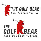 The Golf Bear logo Royalty Free Stock Photography