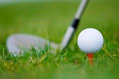 Golf bianco della sfera fotografie stock libere da diritti