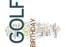 Golf Birthday Gift Word Cloud Concept