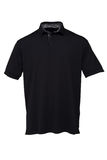 Golf black  tee shirt with black and white Stripes collar for ma Stock Photography