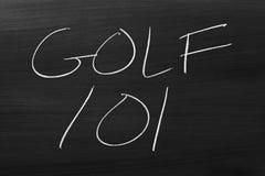 Golf 101 On A Blackboard Stock Photography