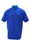Golf blue tee shirt with light blue collar royalty free stock photo