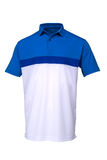 Golf blue and white tee shirt on white background Stock Image
