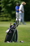 Golf Bolsas de Palos_0031. Close up of golf clubs stock photography