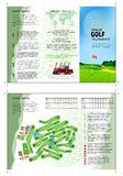Golf brochure. Tri fold golf brochure design. Annual golf tournament Stock Image