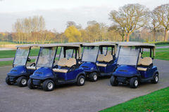 Golf buggies Royalty Free Stock Image
