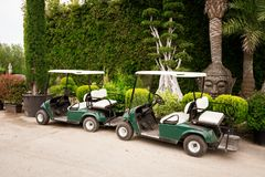 Golf Buggies Royalty Free Stock Images