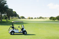 Golf buggy with no one around Royalty Free Stock Photo