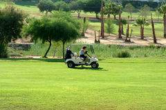 Golf Buggy - Spain. Buggy on Spanish golf course Royalty Free Stock Images