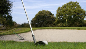Golf bunker Royalty Free Stock Photo