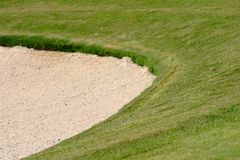Golf-Bunker Stockfoto