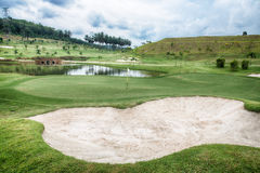 Golf Bunker at the golf course Royalty Free Stock Image