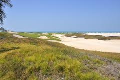 Golf bunkers Stock Photos