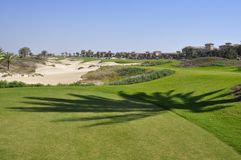 Golf bunkers Stock Photo