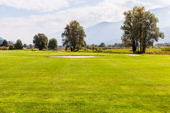 Golf with bunkers Stock Images