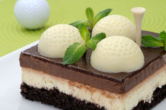 Golf cake Stock Images