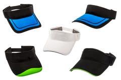 Golf visors on white background Royalty Free Stock Photo