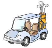 Golf car. Golf mini car; sport vehicle; vector illustration Royalty Free Stock Photography