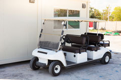 Golf car with backseat Royalty Free Stock Photography