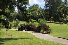 Golf car at the Constance Lemuria Resort Stock Photo