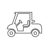 Golf car icon simple flat vector illustration Royalty Free Stock Photo