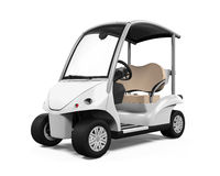 Golf Car Isolated Royalty Free Stock Images