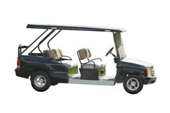 Golf car for servicing. Golf Royalty Free Stock Photos