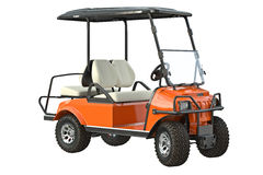 Golf car transport. Golfing equipment. 3D graphic Royalty Free Stock Image