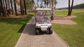 Golf Car stock footage