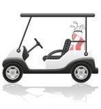 Golf car vector illustration Royalty Free Stock Photography