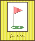 Golf card Stock Images