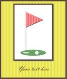 Golf card Royalty Free Stock Photo