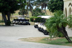 Golf cars Stock Image