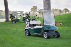 Golf cars Stock Photo