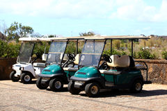 Golf cars Royalty Free Stock Image